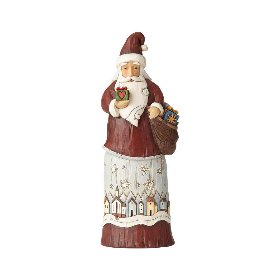 Folklore Santa with Gift