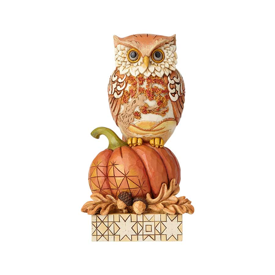 Harvest Owl on Pumpkin