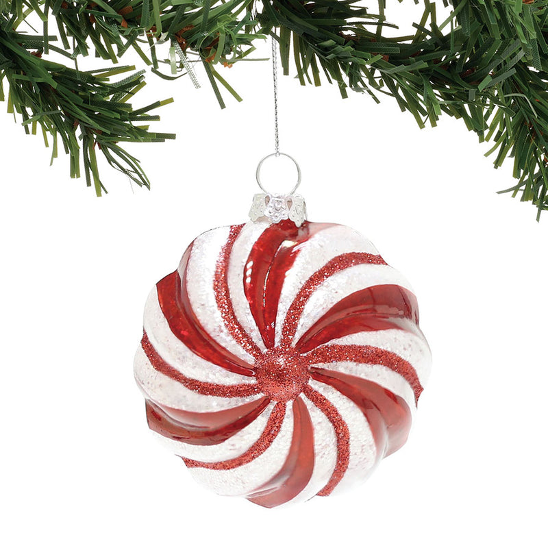 Red & White Ball Ornament