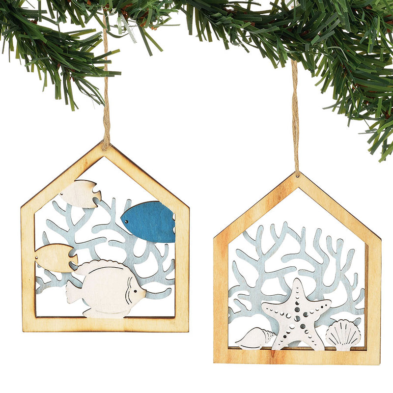 COAST Coral Wood Ornaments/2