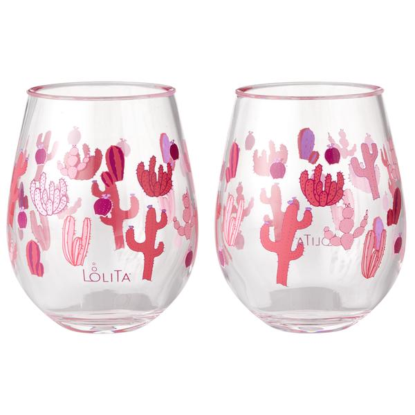Funky Cactus 2 pc set Acrylic
