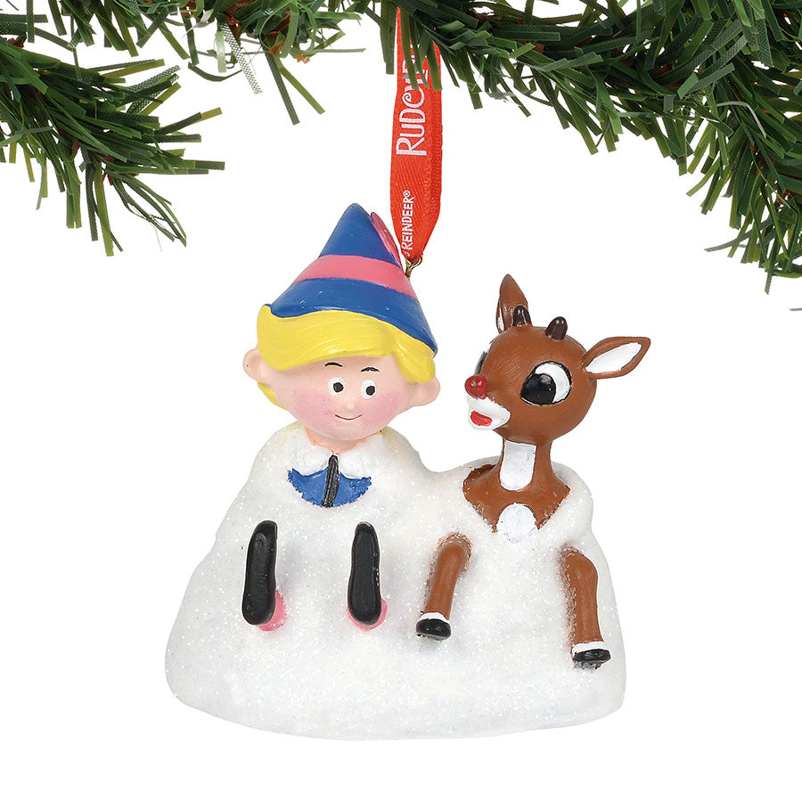 Rudy and Elf musical Ornament
