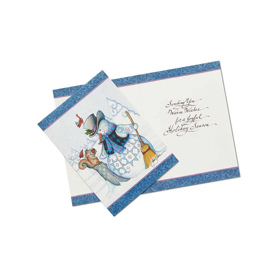 Snowman Holiday Card Set of 10