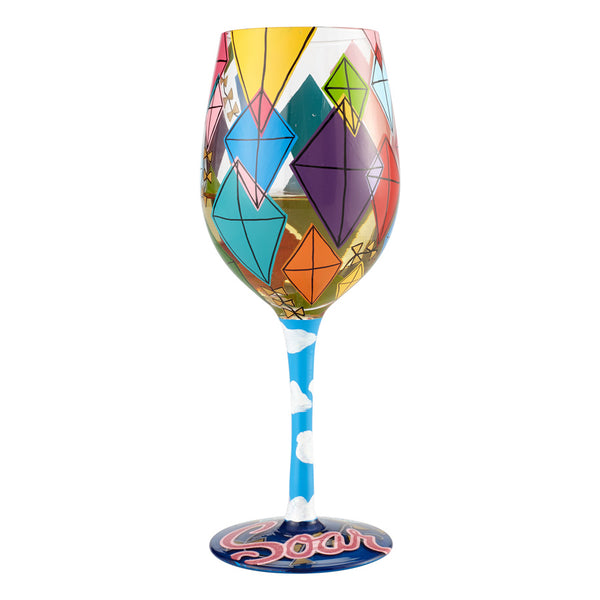 Wine Glass Time to Soar
