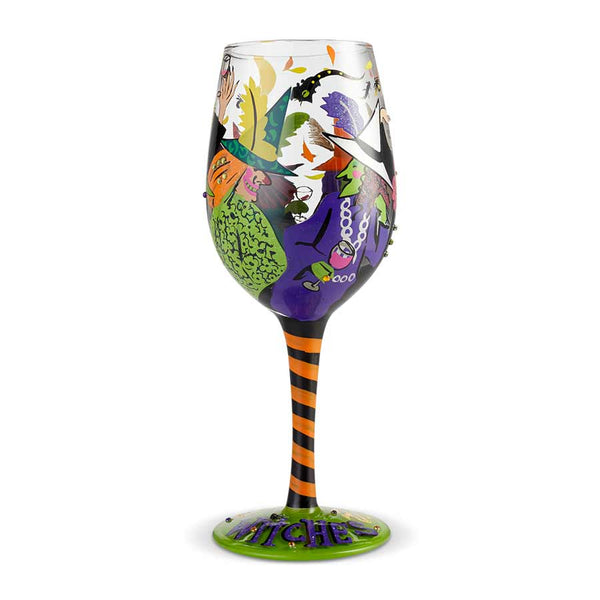 Wine Glass Cheers Witches