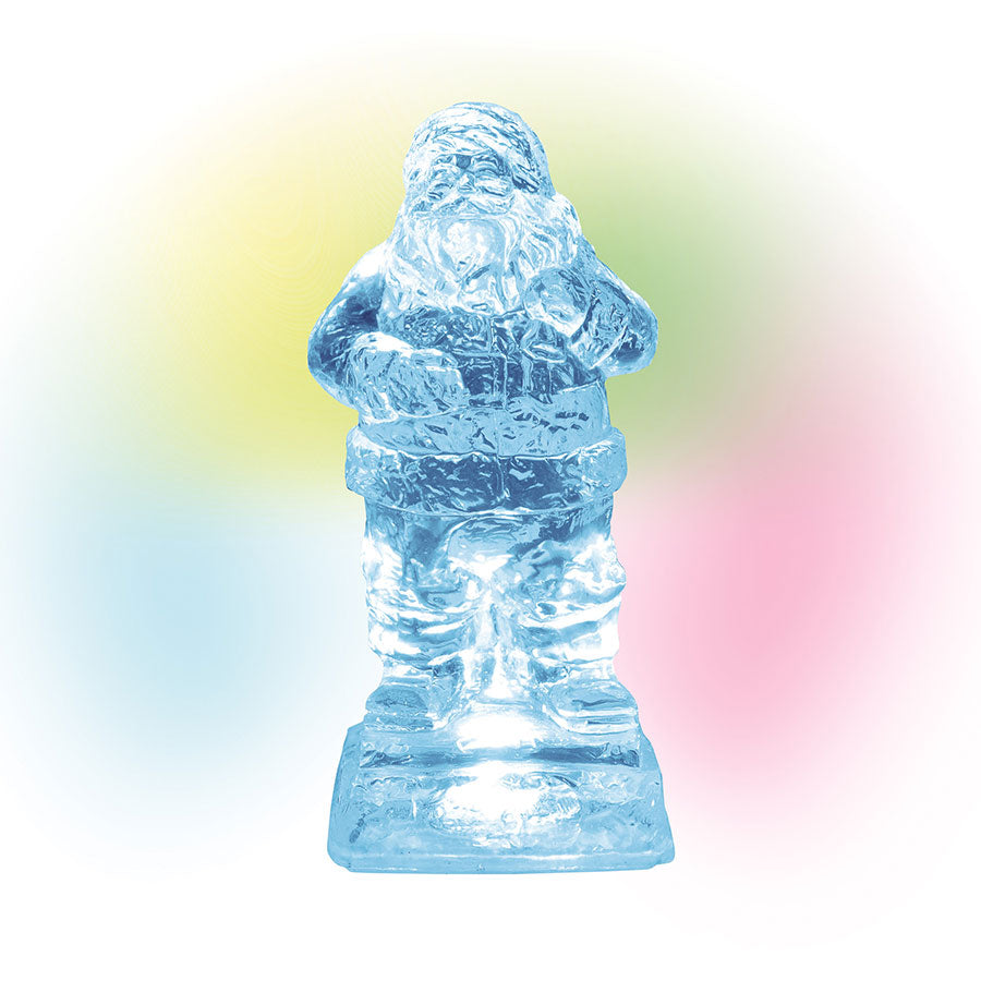 Lit Ice Castle Santa