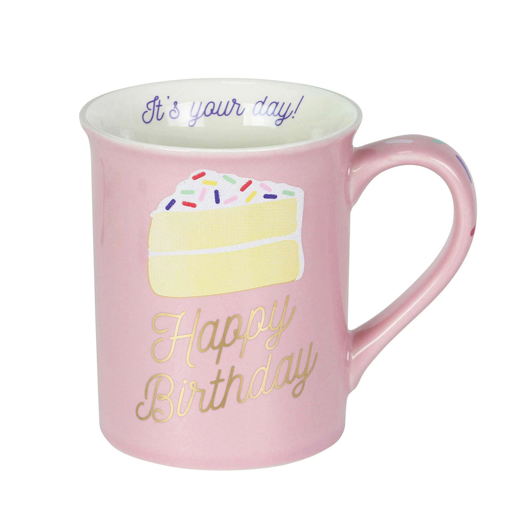 Happy Birthday Glitter Mug