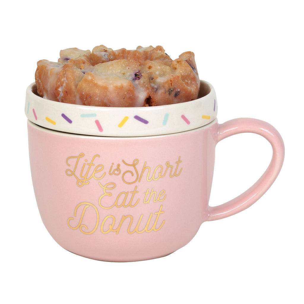 Mug with Lid Donut  Warmer