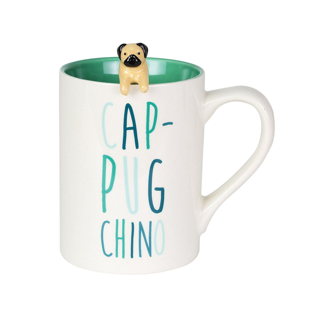 Cap-Pug-Cino Mug with Spoon Se