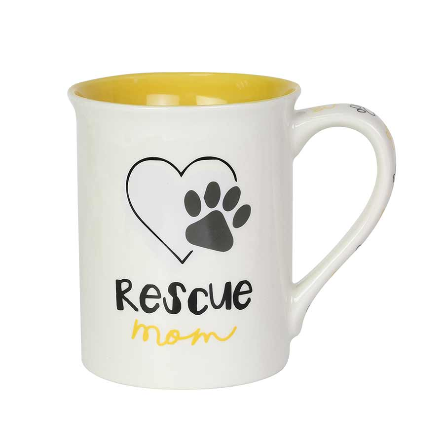 Rescue Dog Mom 16 oz Mug