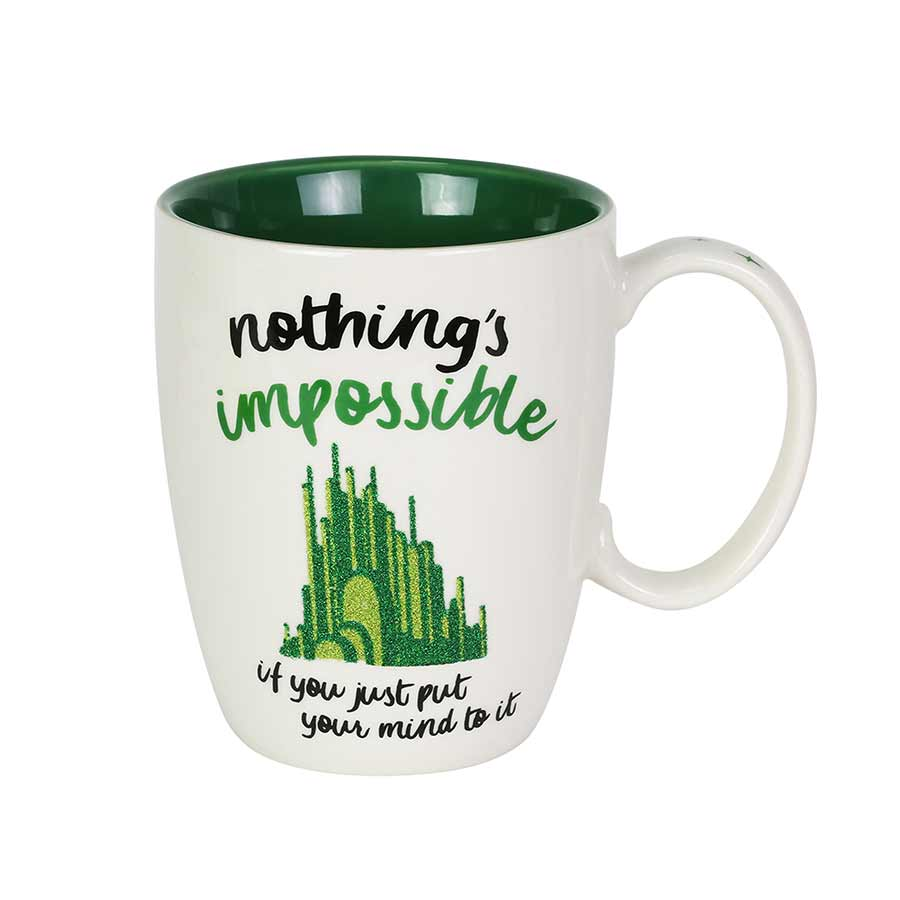 Wizard of Oz Green Glitter Mug