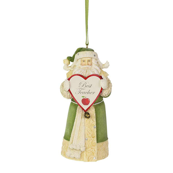 Best Teacher Santa Ornament