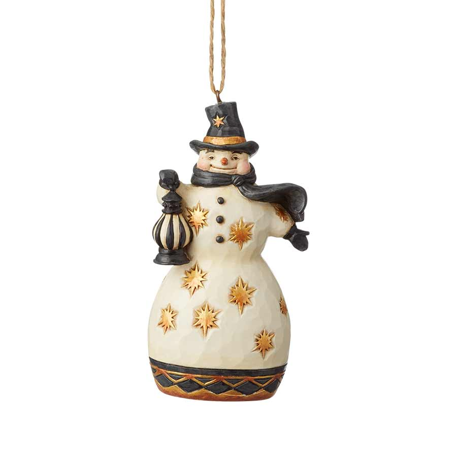 Black & Gold Snowman Ornament