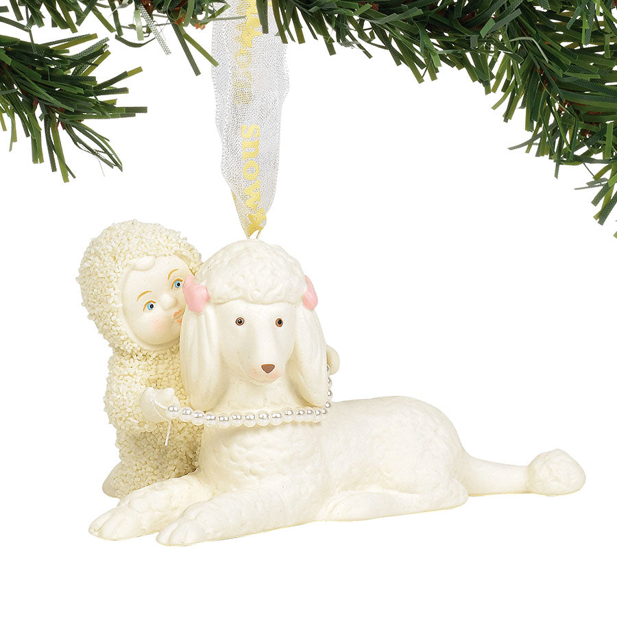 Poodle In Pearls Ornament