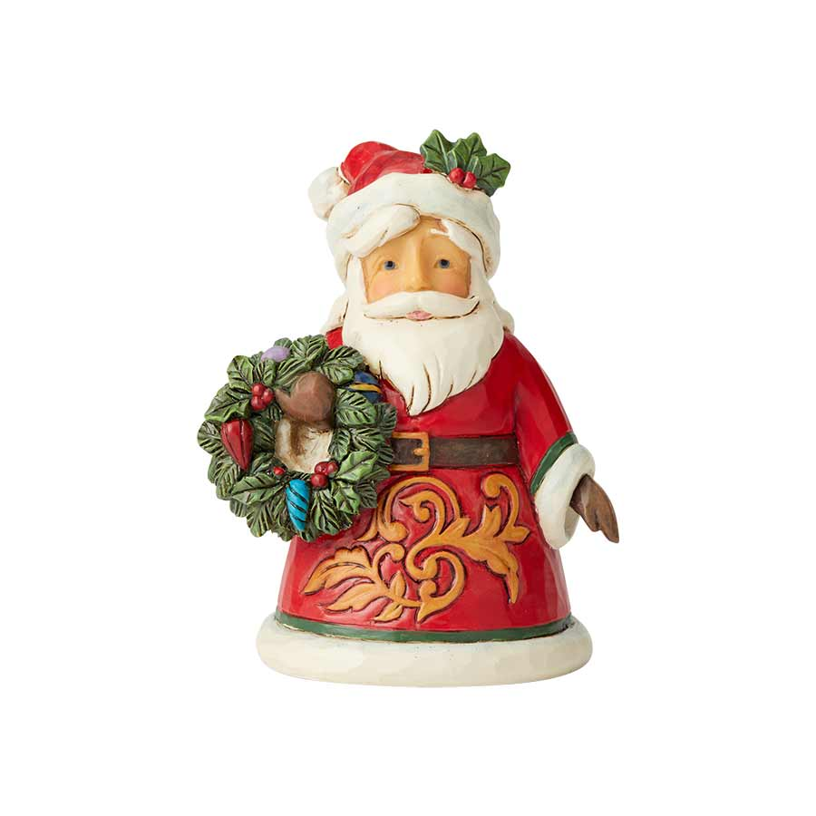 Mini Santa with Wreath