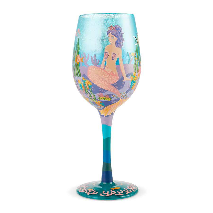 Wine Glass Miss Mermaid