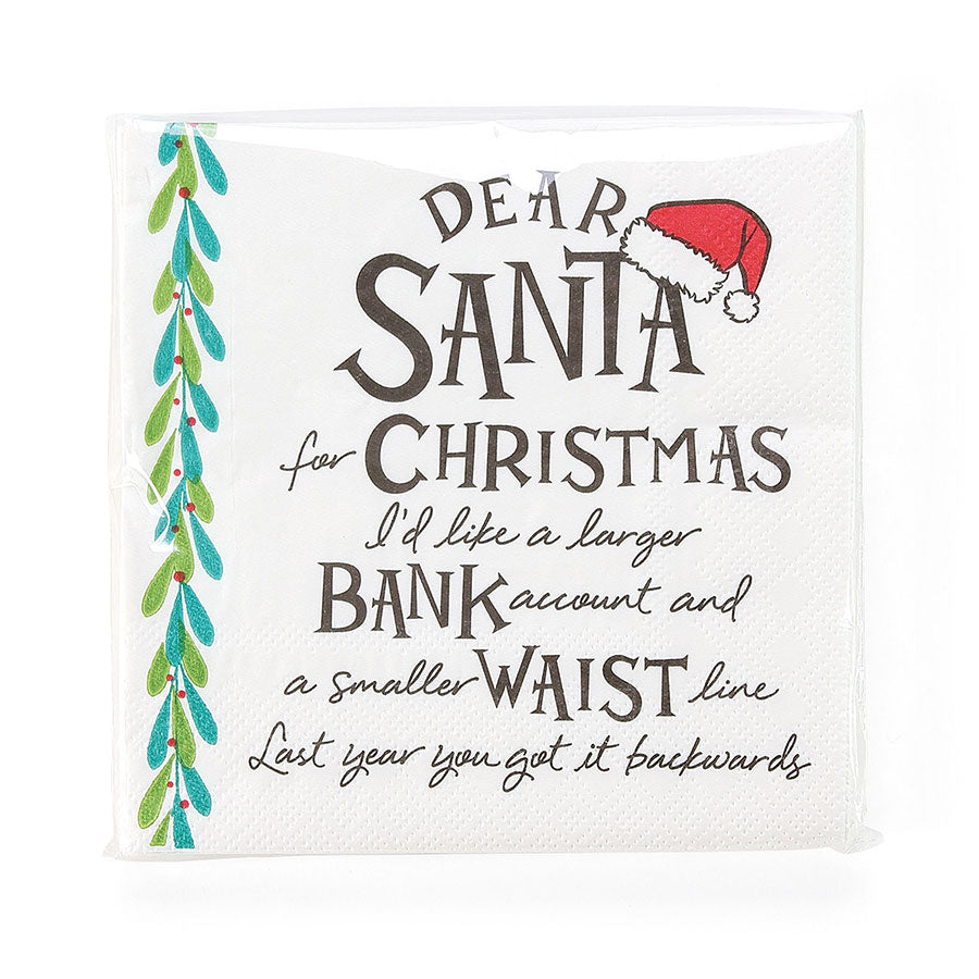 ENTMT DearSanta Larger Napkins