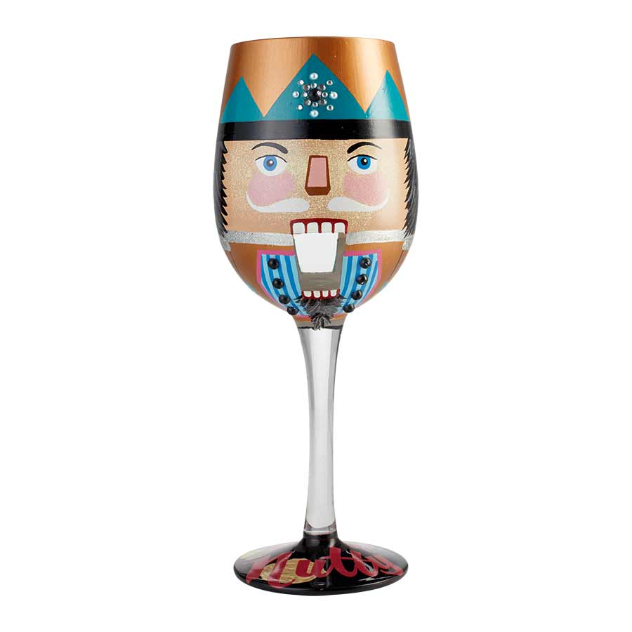 Wine Glass Let's Be Nutty