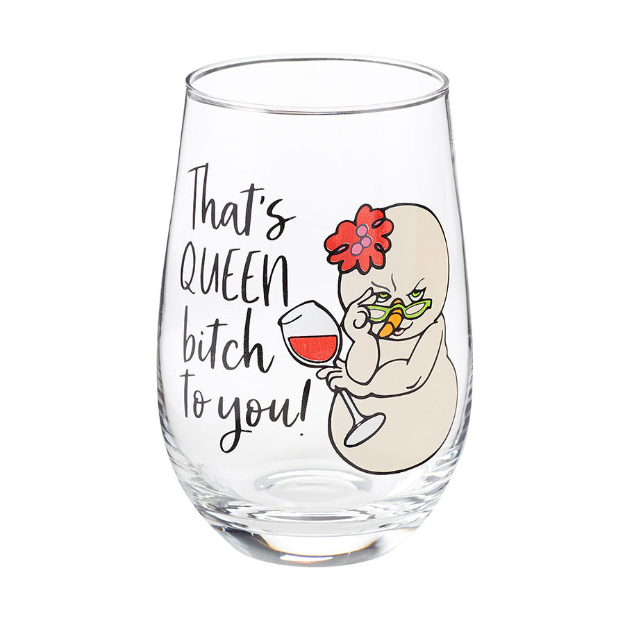 Queen Bitch Wine Glass