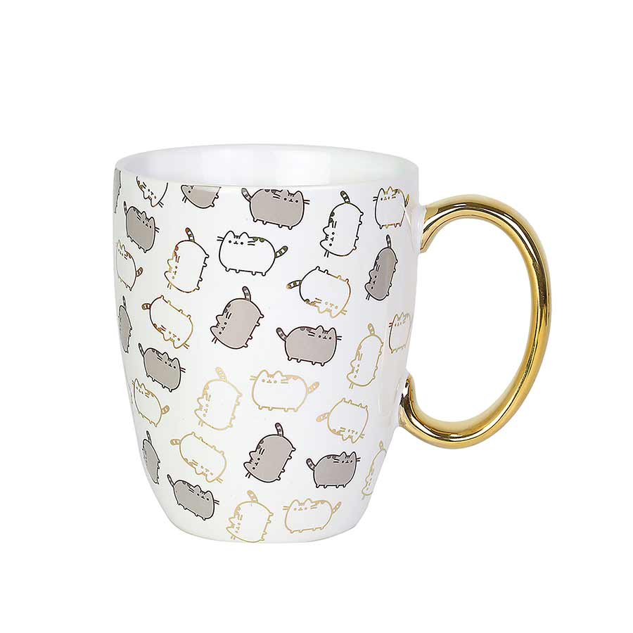 Pusheen Gold Pattern Mug