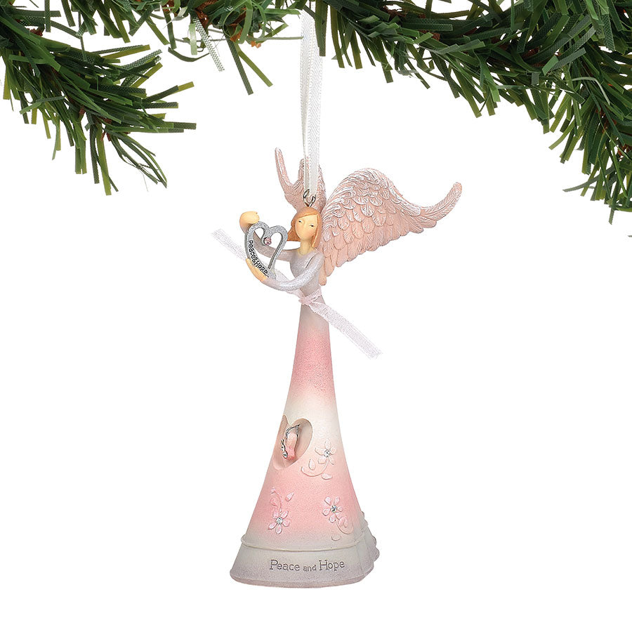 Peace & Hope Angel Ornament