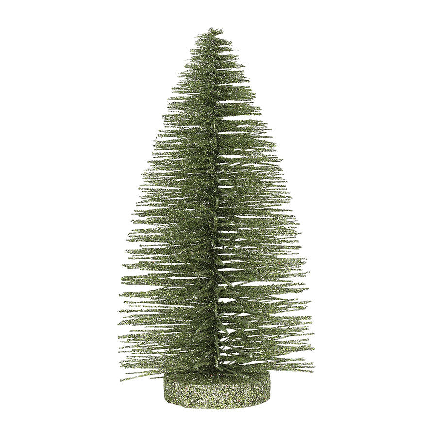 8 Inch Lt Green Glitter Tree