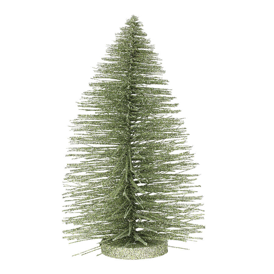 "11"" Lt Green Glitter Tree"
