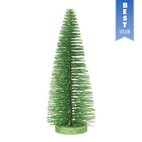"10"" Bright Green Glitter Tree"