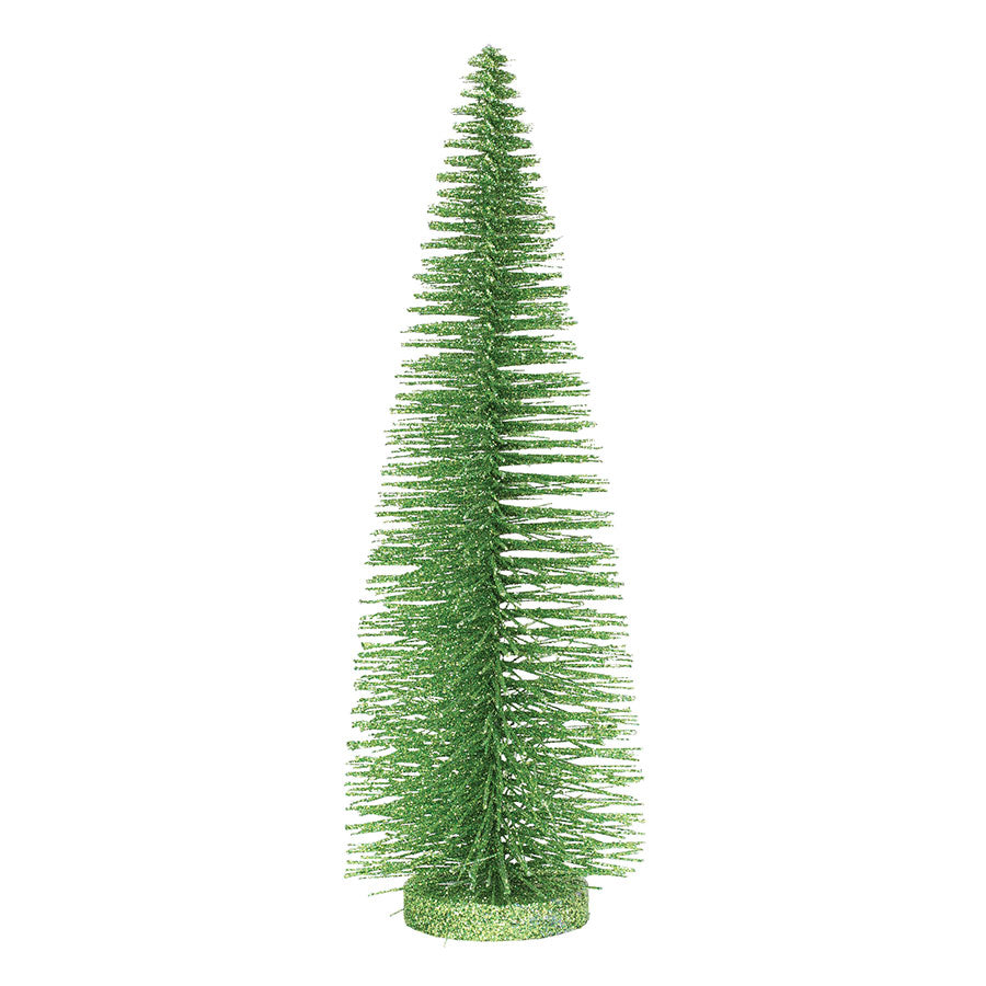 "14"" Bright Green Glitter Tree"