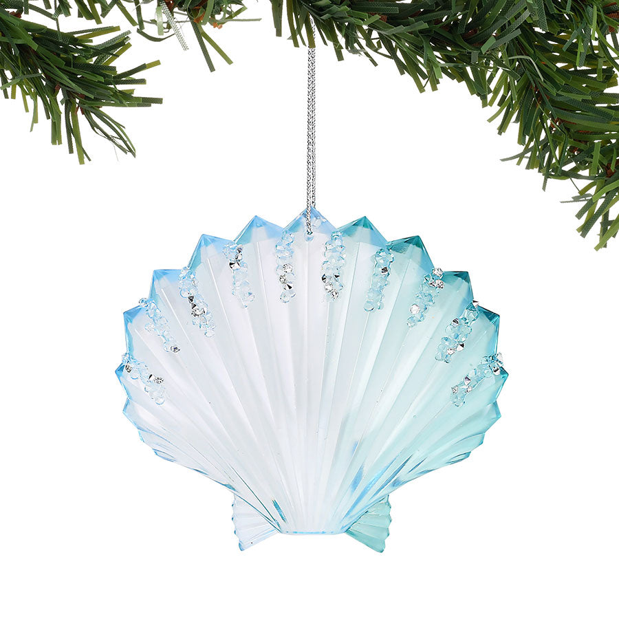 COAST PEARL BAY FAN SHELL ORN