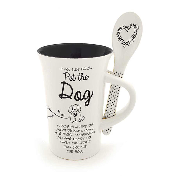 Dog Mug and Spoon Set