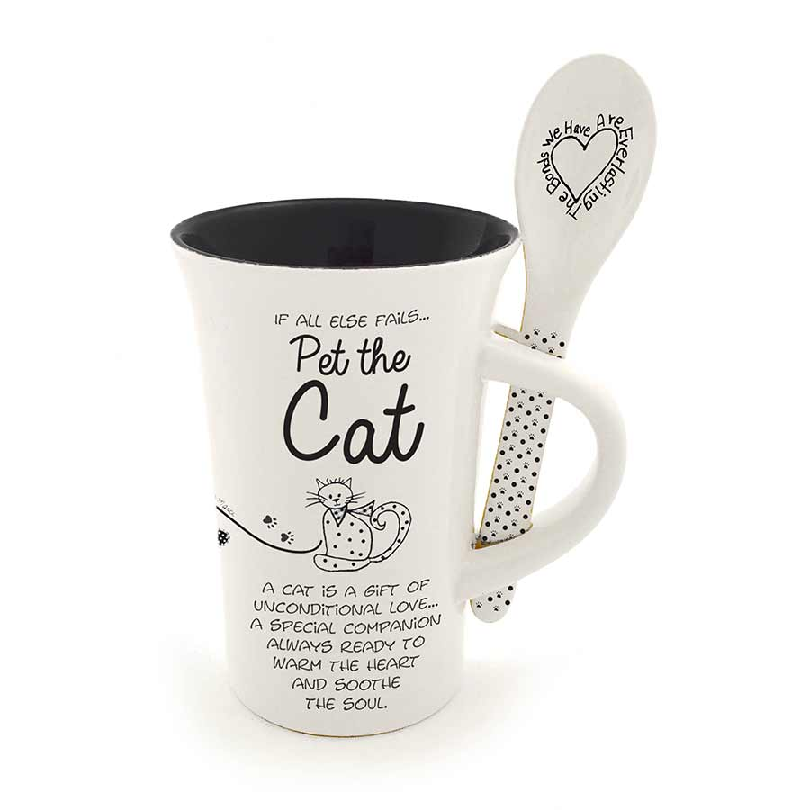 Cat Mug and Spoon Set