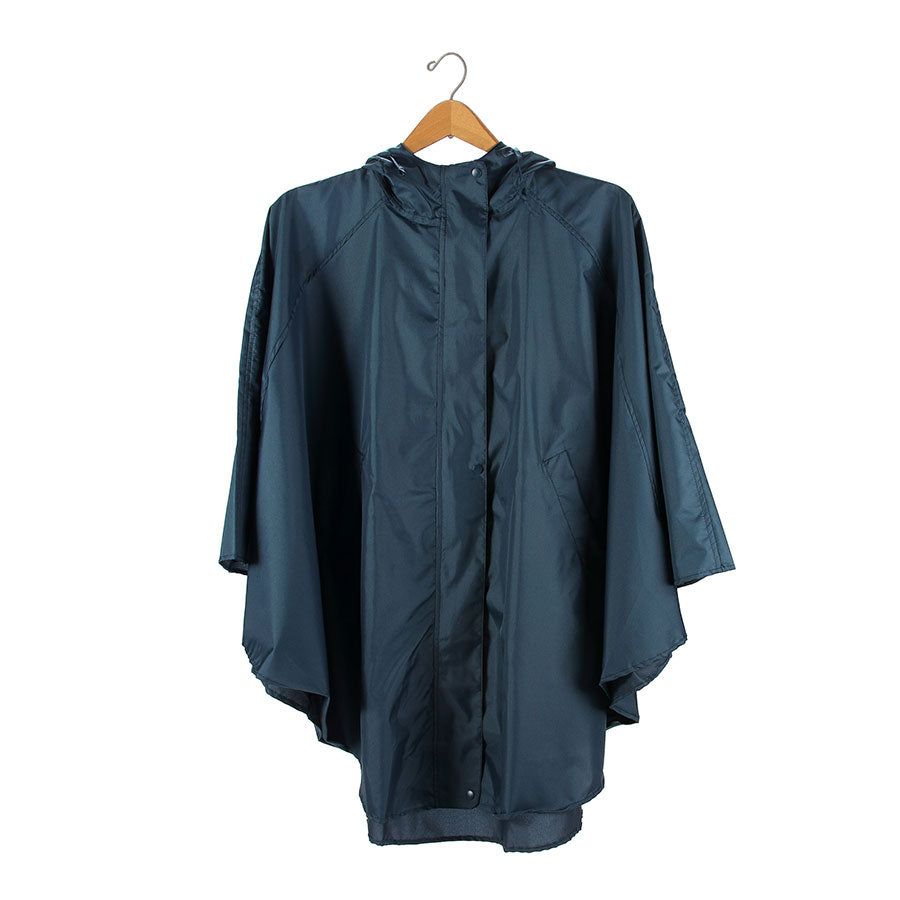 QUOTE TEAL RAIN PONCHO