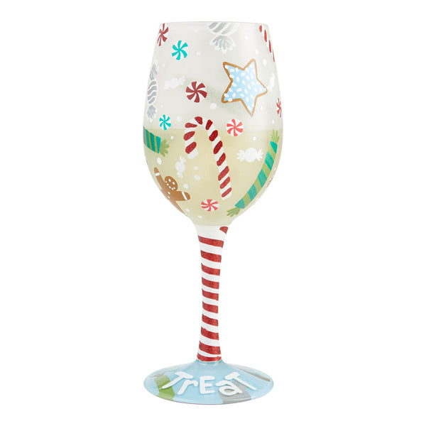 Wine Glass Holiday Treat