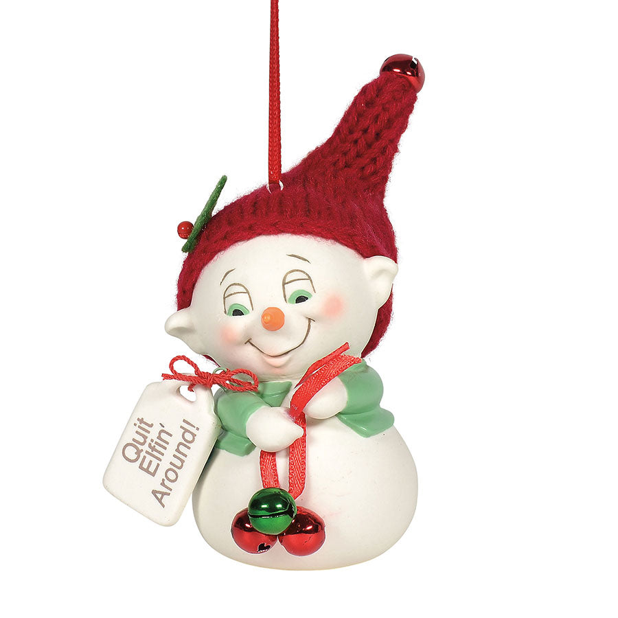 Quit Elfin' Around ornament
