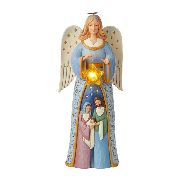 Angel Statue with Nativity