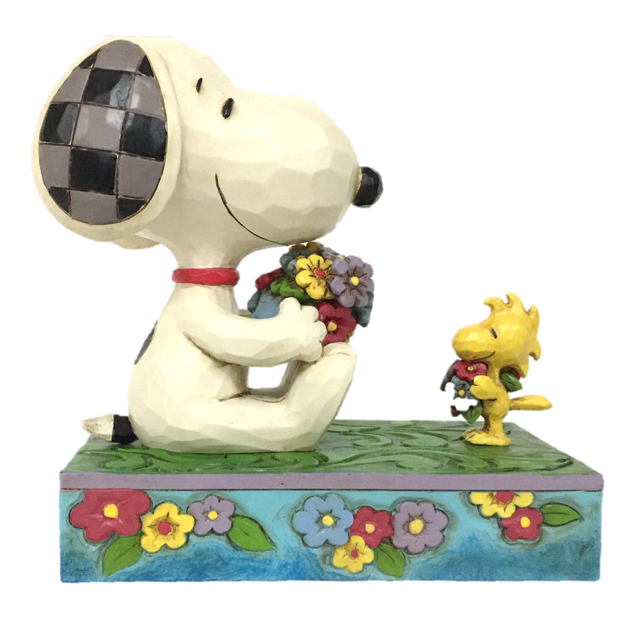 Snoopy/Woodstock with Flowers