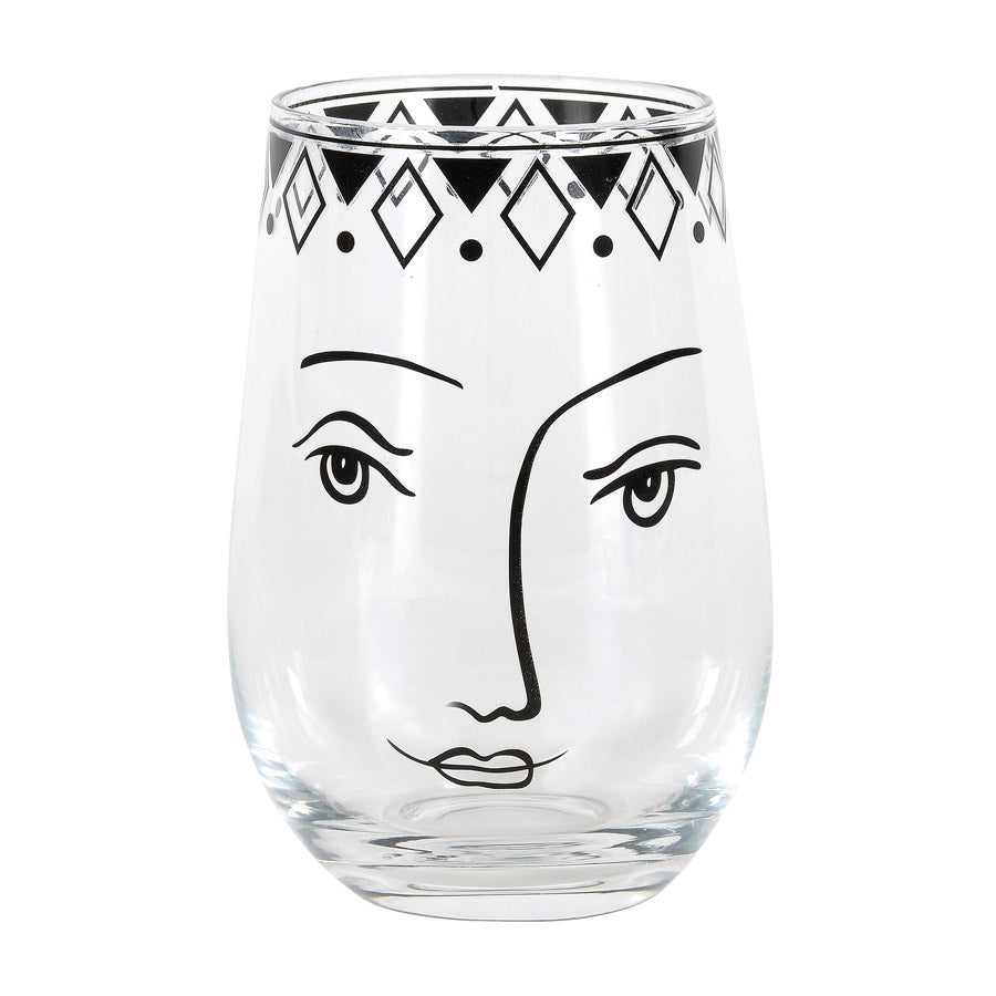 Pen&Ink Female Face Glass