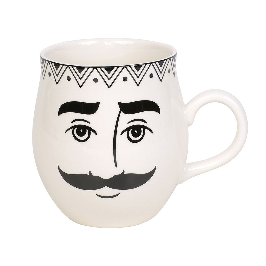 ENTMT Pen & Ink Male Face Mug