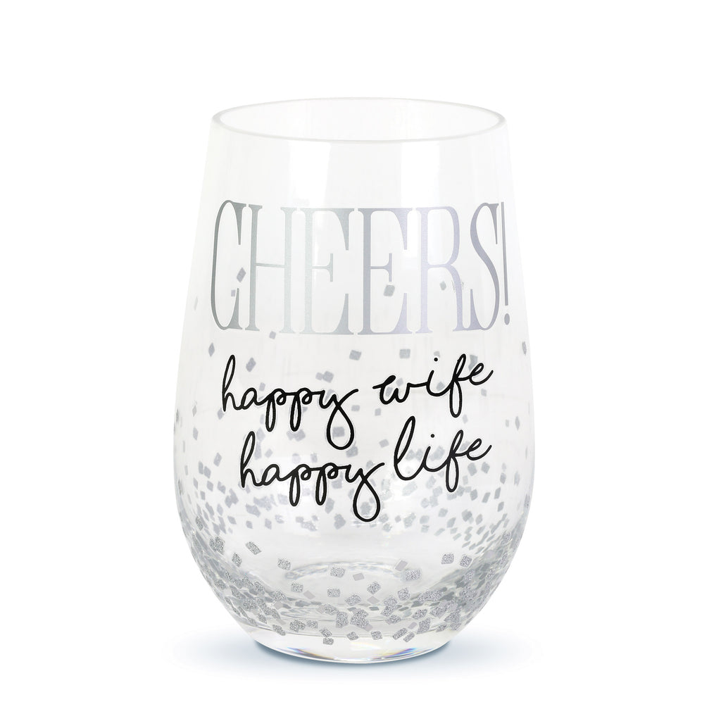 Cheers Wife Stemless Wine Glas