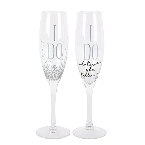 I Do Champagne Glass Set