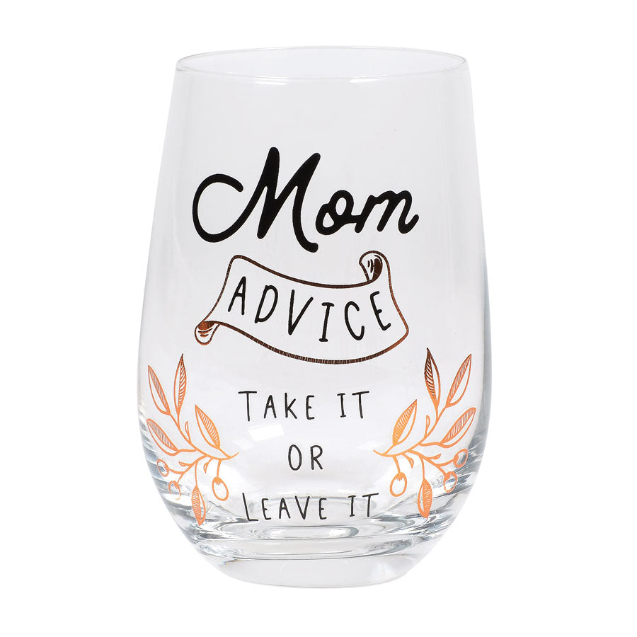 ENTMT Advice Wine Glass
