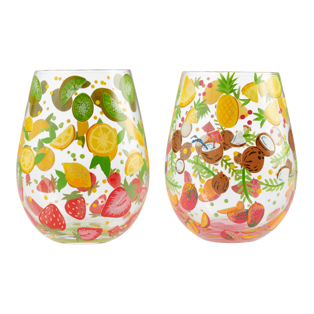 Stemless 2 pc Set Tutti Fruiti