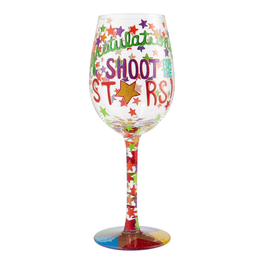 Wine Glass Shoot for the Stars