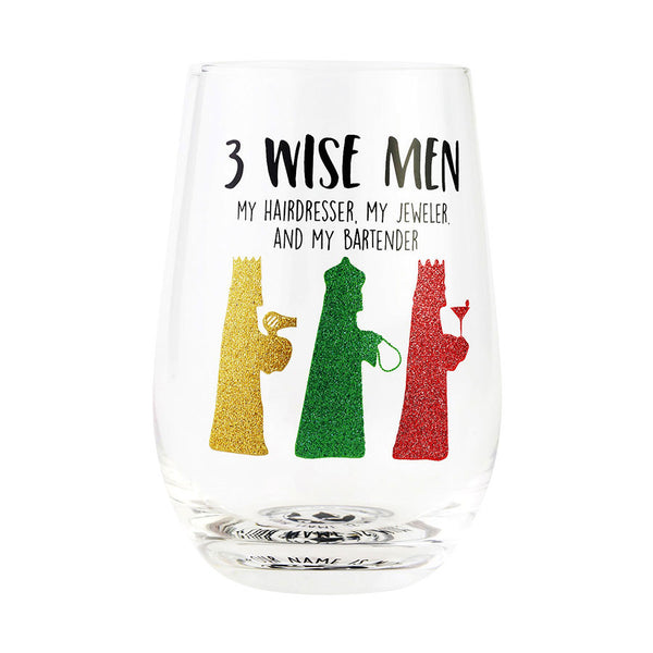 3 WISE MEN STEMLESS GLAS