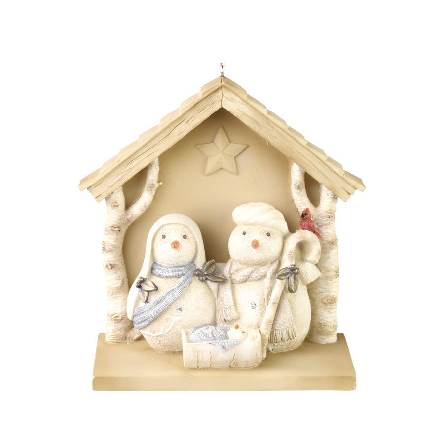 Snowman Nativity Ornament