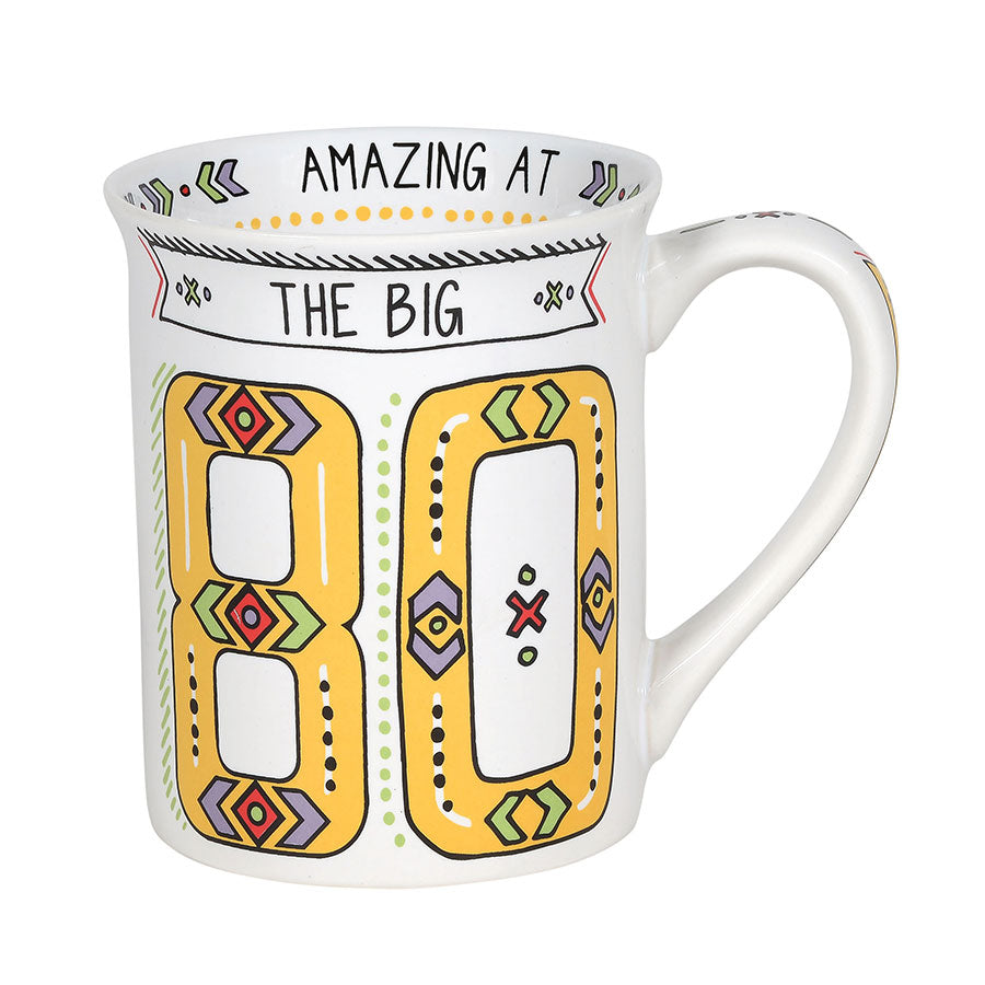 80th Birthday Cuppa Doodle Mug