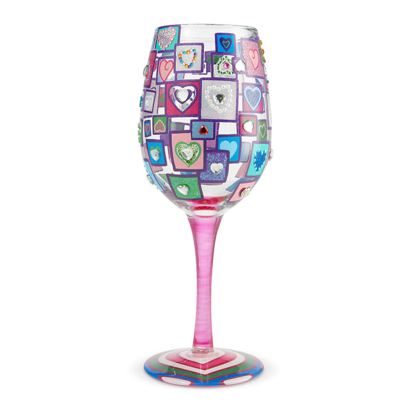 Wine Glass Squared Up for Love