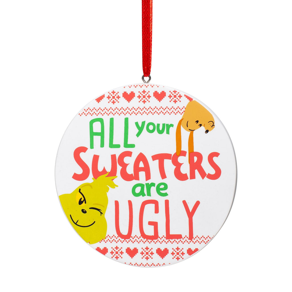 Grinch Ugly Sweater Ornament