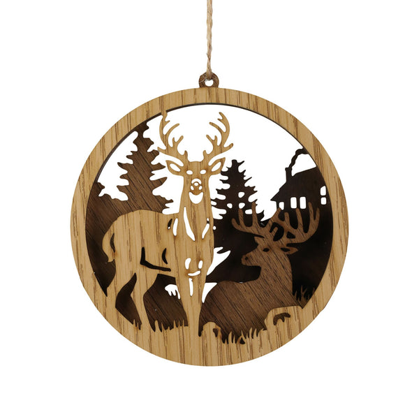 Circle Deer Ornament